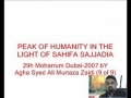 9-Peak of Humanity in the light of Sahifa-e-Sajadia Urdu
