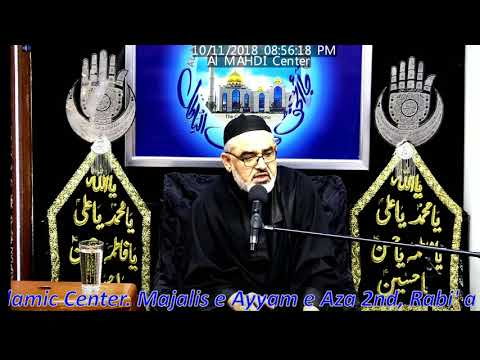 [Majlis 02] Topic:Saadat aur Kamyabi Ahlaybait kay Aqwal ki Roshni may H.I Ali Murtaza Zaidi 2-Rabiul awal 1440/2018-Urd