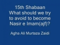 6th Aug - Nasiran Imam should avoid - by Aga Ali Murtaza Zaidi - Urdu