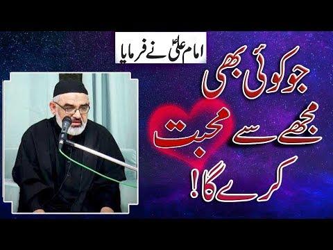 [Clip] Imam Ali A.S say muhabbat karna |Imam Ali | Haris e Hamdani | H.I Syed Ali Murtaza Zaidi 2019  Urdu