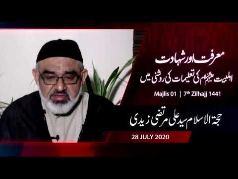[01] Maarfat Or Shahadat, Ahlebait (as) Ke Talemat Ke Roshni May | H.I Syed Ali Murtaza Zaidi - Urdu