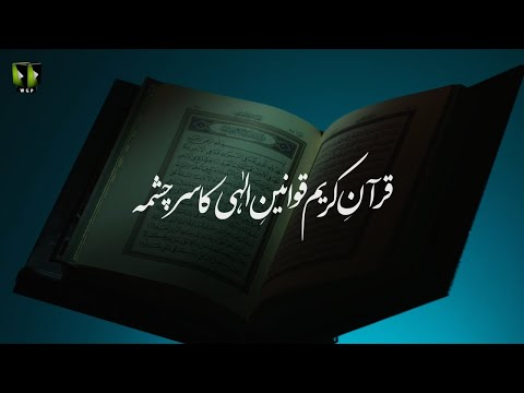 [Clip] Quran -e- Kareem, Qawaneen -e- Elahi ka Sarchasma | H.I Syed Ali Murtaza Zaidi | Urdu